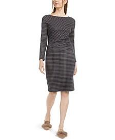 Long-Sleeve Plaid Dress