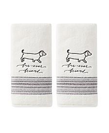Ltd Fur Ever Friends 2 Piece Hand Towel Set