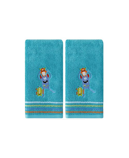 Saturday Knight Ltd Monsters 2 Piece Hand Towel Set