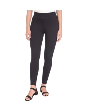High Rise Pull On Skinny Ankle Pants