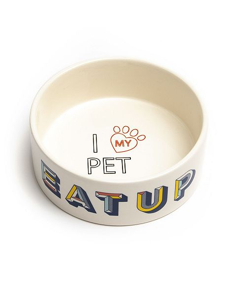 "Park Life Designs Retro Large 8"" Pet Bowl, Set of 2"