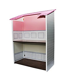 Two Story Wooden Fold and Store Doll Town House