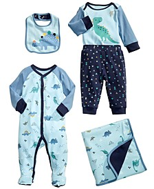 Baby Boys Dinosaur Blanket, Bib & Matching Outfits, Created for Macy's