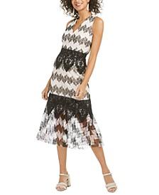 Montana Bubble Lace Midi Dress