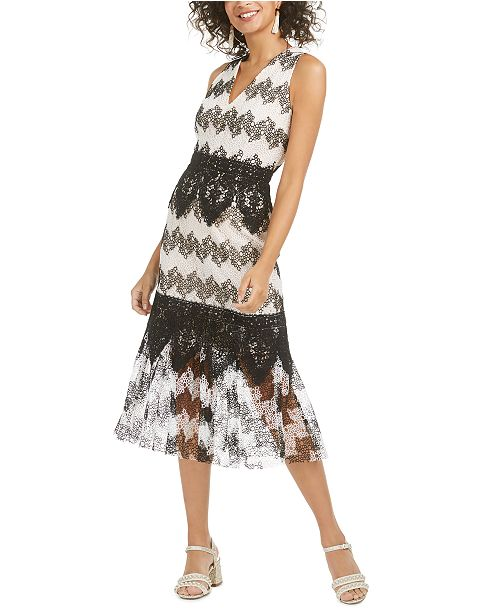 foxiedox Montana Bubble Lace Midi Dress