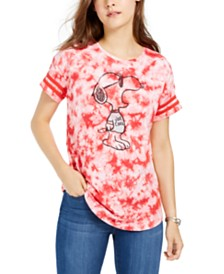 Freeze 24-7 Juniors' Cotton Tie-Dyed Snoopy T-Shirt