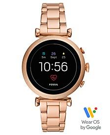 Women's Tech Gen 4 Sloan HR Rose Gold-Tone Stainless Steel Bracelet Touchscreen Smart Watch 40mm