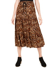 Style & Co Animal-Print Skirt, Created for Macy's