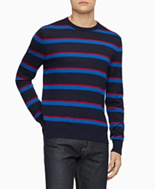Calvin Klein Men's Bi-Color Striped Sweater