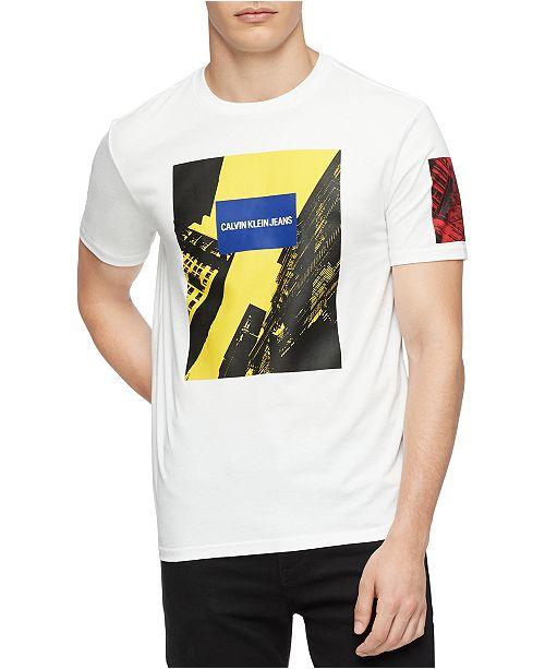 Calvin Klein Jeans Men's Multi-Color Skyline Logo Graphic T-Shirt
