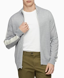 Calvin Klein Men's Merino Full-Zip Sweater