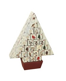 Sterling Rustic Wooden Christmas Tree Advent Calendar