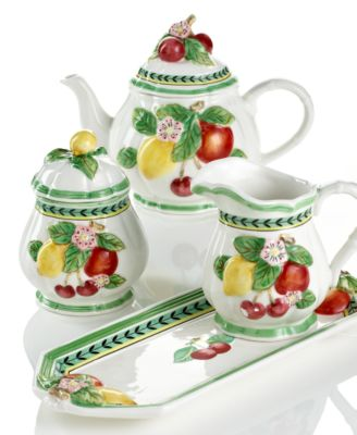 Bon Come Bearing Gifts From The French Garden Collection. Bright Summer Fruit  Ripens On A White Ground, Accenting The Teapot, Salt And Pepper Shakers And  More ...