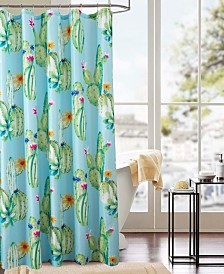 RT Designers Collection Classic Cactus Printed Shower Curtain