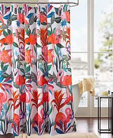 RT Designers Collection Classic Flamingo Printed Shower Curtain