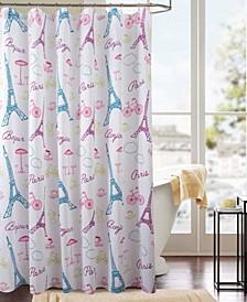 Classic Paris Printed Shower Curtain