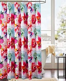 Classic Wildflower Printed Shower Curtain