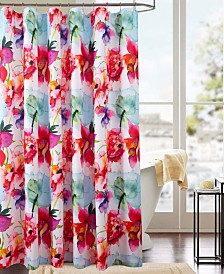 RT Designers Collection Classic Wildflower Printed Shower Curtain