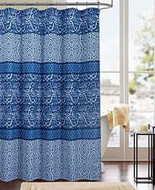 Clermont Printed Canvas 13-Pc. Shower Curtain Set
