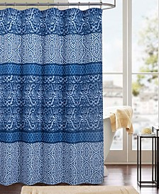 RT Designers Collection Clermont Printed Canvas 13-Pc. Shower Curtain Set