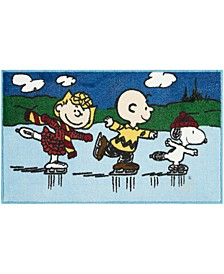 "Peanuts Three Skating 18"" x 30"" Accent Rug"