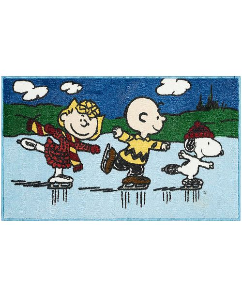 """Nourison CLOSEOUT! Peanuts Three Skating 18"""" x 30"""" Accent Rug"""