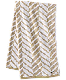 "Lacoste Herringbone Cotton 30"" x 54"" Bath Towel"