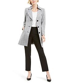 Le Suit Belted Plaid-Jacket Pants Suit