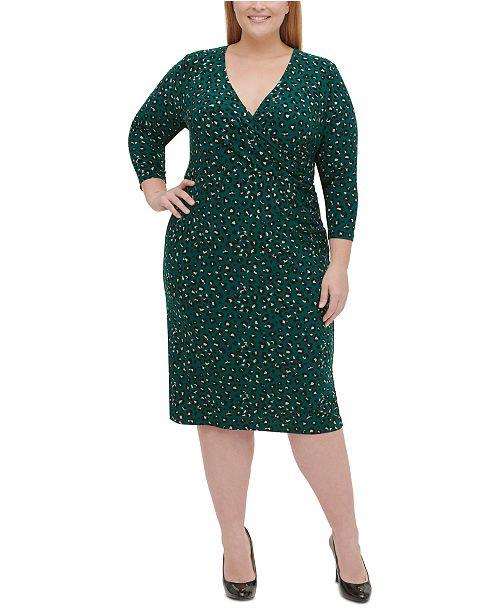 Plus Size Leopard-Print Jersey Midi Dress