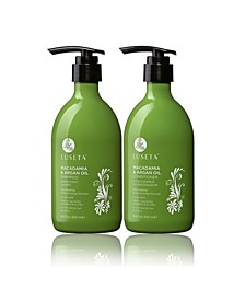 Luseta Beauty Macadamia & Argan Oil Shampoo & Conditioner Set 33.8 Ounces