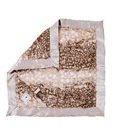 Plush Luxie Pocket Blanket with Pocket and Strap Holder for Pacifier or Toy