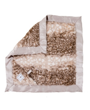 Zalamoon Plush Luxie Pocket Blanket With Pocket And Strap Holder For Pacifier Or Toy In Neutrals