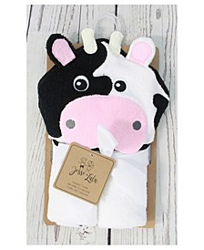 3 Stories Trading Infant Hooded Towel, Cow
