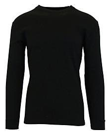 Men's Waffle Knit Thermal Shirts with Contast Side Trim