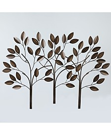Luxen Home Metal Trees Wall Decor