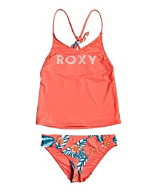 Roxy Big Girl Floral Time Tankini Two Piece Set