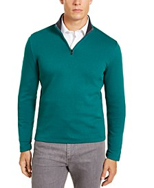 Men's Solid Quarter-Zip Sweater, Created for Macy's