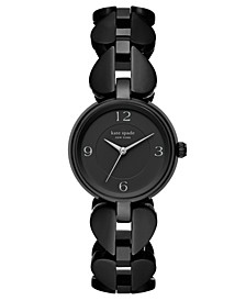 Women's Annadale Black Spade Stainless Steel Bracelet Watch 30mm
