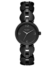 Kate Spade New York Women's Annadale Black Spade Stainless Steel Bracelet Watch 30mm