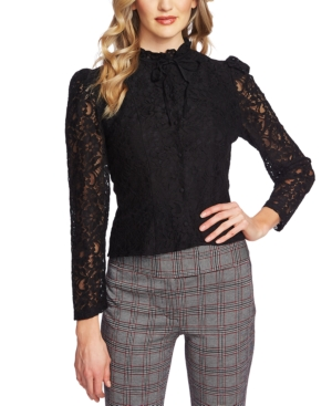 1890s-1900s Fashion, Clothing, Costumes CeCe Lace Mock-Neck Top $89.00 AT vintagedancer.com