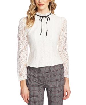Victorian Blouses, Tops, Shirts, Sweaters CeCe Lace Mock-Neck Top $99.00 AT vintagedancer.com