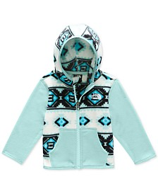 The North Face Baby Girls Colorblocked Geo-Print Glacier Fleece Hoodie