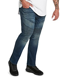MVP Collections Men's Big and Tall Denim Biker Jean