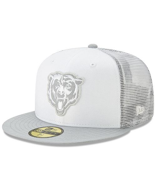 New Era Chicago Bears White Cloud Meshback 59FIFTY Cap