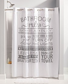 Bathroom Rules Shower Curtain