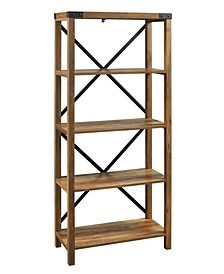 Farmhouse Metal X Bookcase