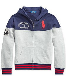Polo Ralph Lauren Big Boys Knit Hoodie, Created For Macy's