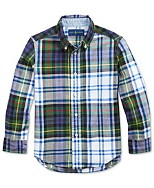 Little Boys Madras Plaid Shirt