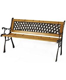 Patio Garden Park Yard Outdoor Wooden Bench