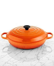 Signature Enameled Cast Iron 5 Qt. Braiser